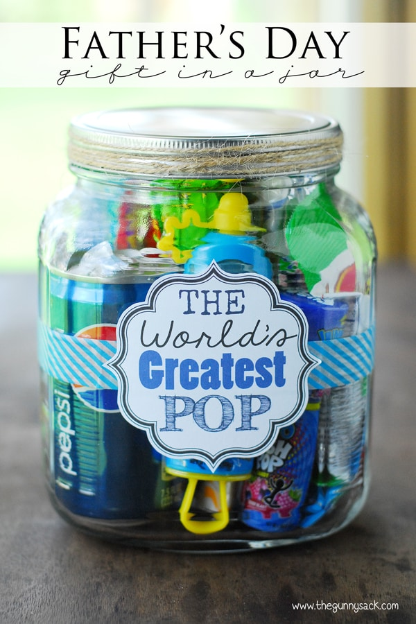 World's Greatest Pop Father's Day Gift in a Jar- I don't if anything warms the heart quite like a homemade gift from your kiddo! Father's Day is no exception - here are 25 homemade Father's Day gifts from kids  - and ones that Dad can actually use!  Keep reading to check them out!