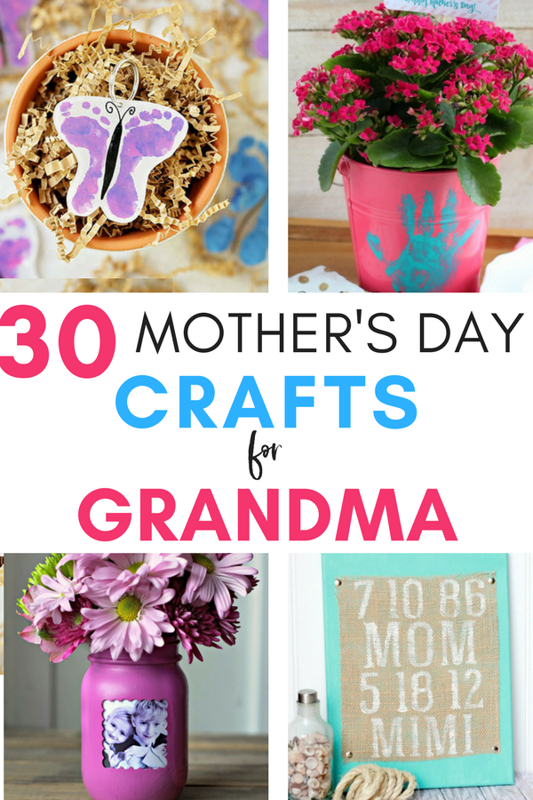 Mother's Day Crafts for Grandmas - With Mother's Day right around the corner, we can't forget the special woman who started it all - Grandma! Kids are so fortunate if they have a grandma in their lives.  These Mother's Day crafts for Grandma are such a heartfelt way to show her some well-deserved love! #mothersday #mothersdaycrafts #mothersdaygifts #mothersdayidea #crafts #grandma