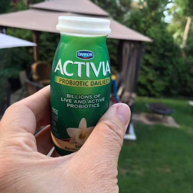 Close up Activia Dailies - Are you a busy mom wondering how to fit healthy habits into your too-full life?  It's easier than you think! Read on for 7 easy health tips to start today!