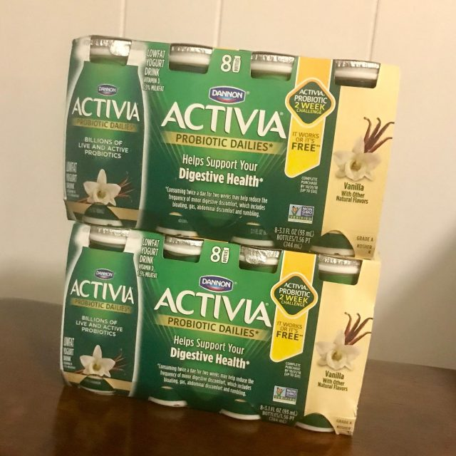 Activia Dailies 8 pack stacked - Are you a busy mom wondering how to fit healthy habits into your too-full life?  It's easier than you think! Read on for 7 easy health tips to start today!