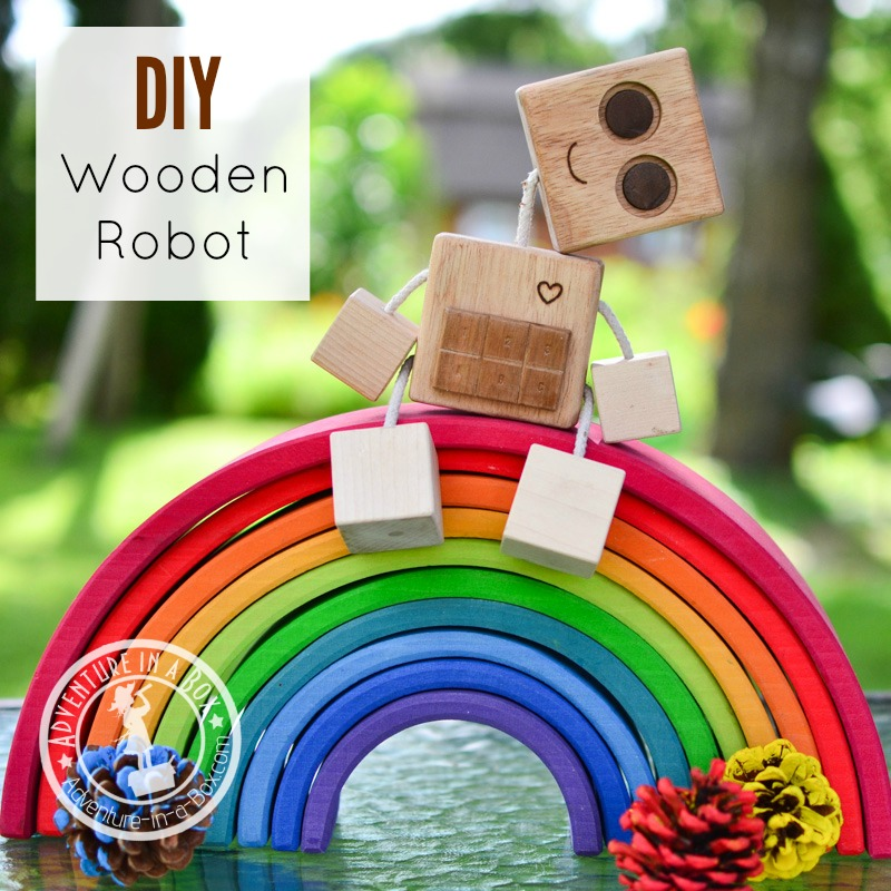 DIY Wooden Block Robot - Are you looking for fun ways to bond with your kids? Finding something you both like can be challenging! Read on for some creative woodworking projects you can do together and make some awesome memories in the process!