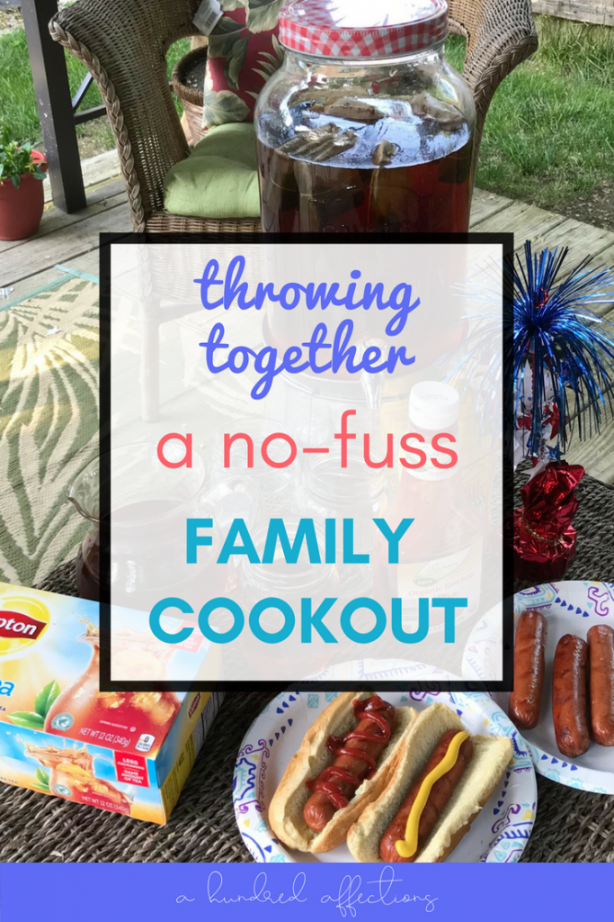 Looking to create meaningful memories with your kids this summer without feeling stressed? A casual family cookout is perfect! Read on to see how to keep it no-fuss and simple!