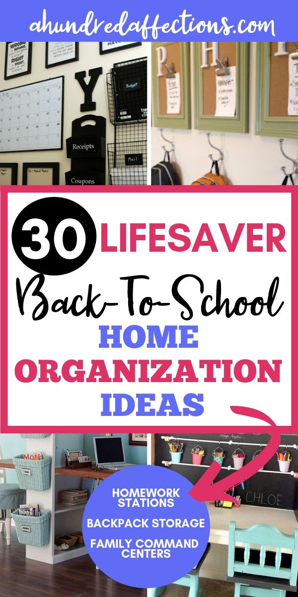 30 Lifesaver Back-to-School Organization Ideas for the Home - A