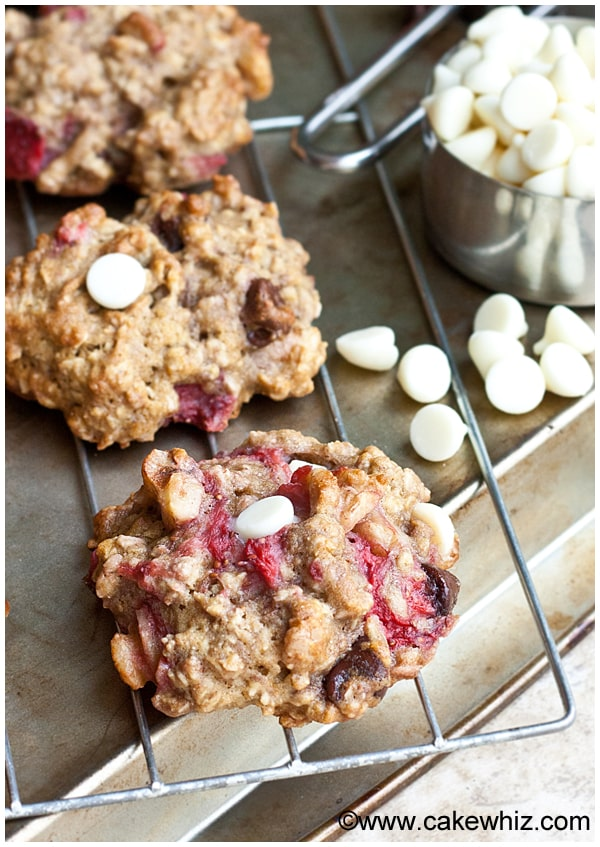 Strawberry Oatmeal Cookies, Cake Whiz: - Summer = strawberry season! Looking for some ways to use those yummy berries? Here are 25 summertime recipes for amazing strawberry desserts and treats!