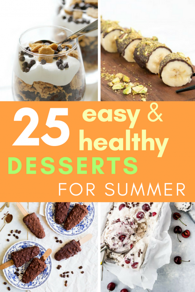 Worried that your health goals will be kicked to the curb with all the delicious summer goodies? You can still stay on track AND enjoy amazing treats.  Keep reading to find 25 amazing healthy summer desserts that are so easy to make!
