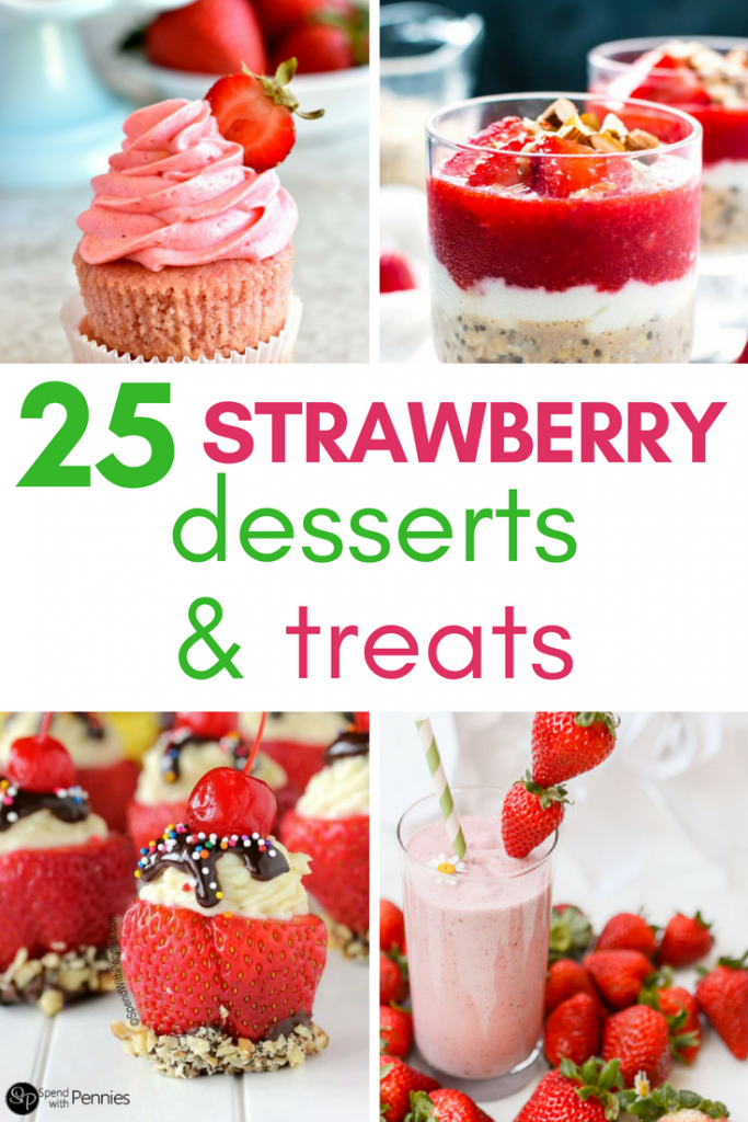 Summer = strawberry season! Looking for some ways to use those yummy berries? Here are 25 summertime recipes for amazing strawberry desserts and treats!