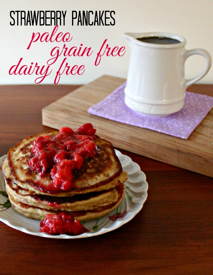 Strawberry Paleo Pancakes, Confessions of an Overworked Mom: Summer = strawberry season! Looking for some ways to use those yummy berries? Here are 25 summertime recipes for amazing strawberry desserts and treats!