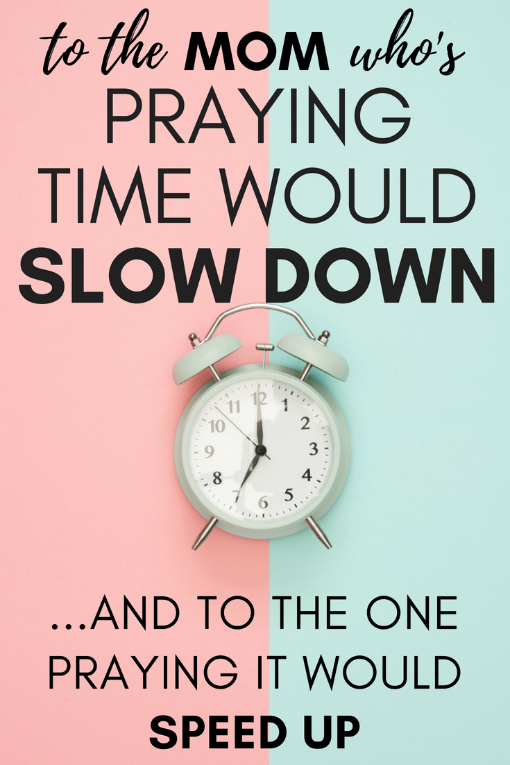 Have you ever wished time would slow down with your kids? Or maybe wished it would speed up? There's a way to gracefully handle both! Read on to see how!