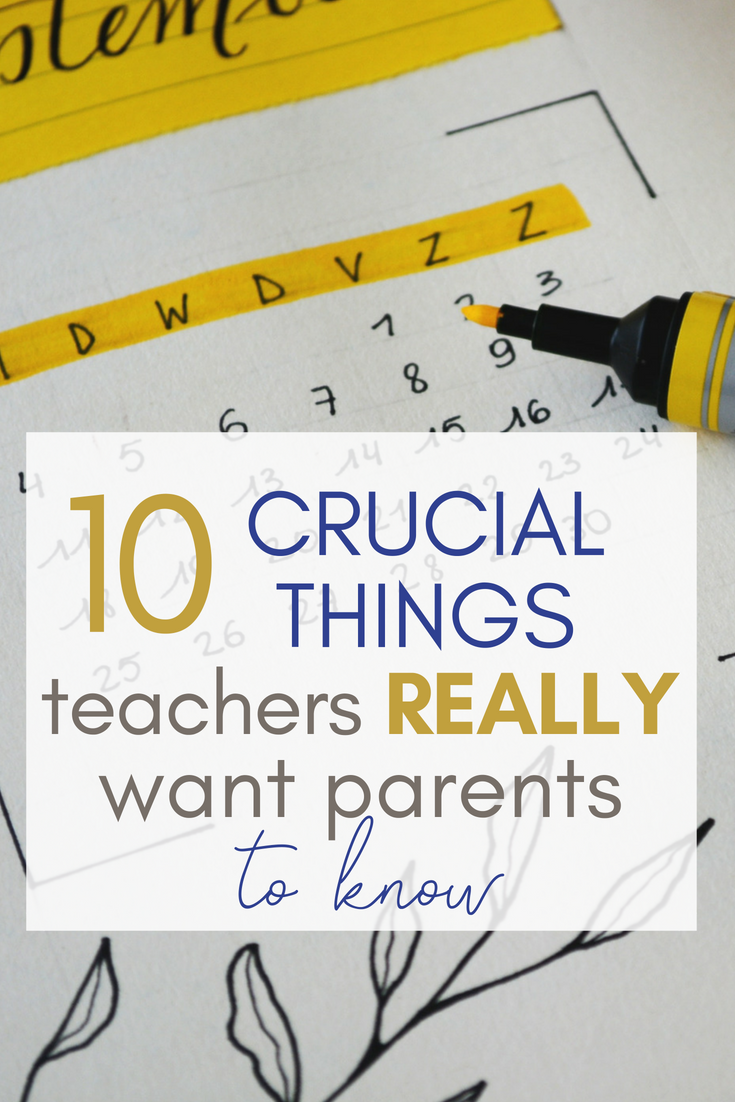 Back to school is crazy for families AND teachers. Ever wondered what teachers are thinking? Here's what they want you to know for a successful year!