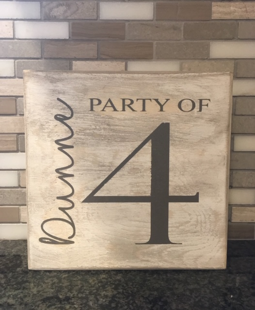 Family name party of 4 rustic wooden sign - Looking for a personalized gift that is really special? These beautiful personalized signs and gifts are unique and custom-designed! Keep reading for more!