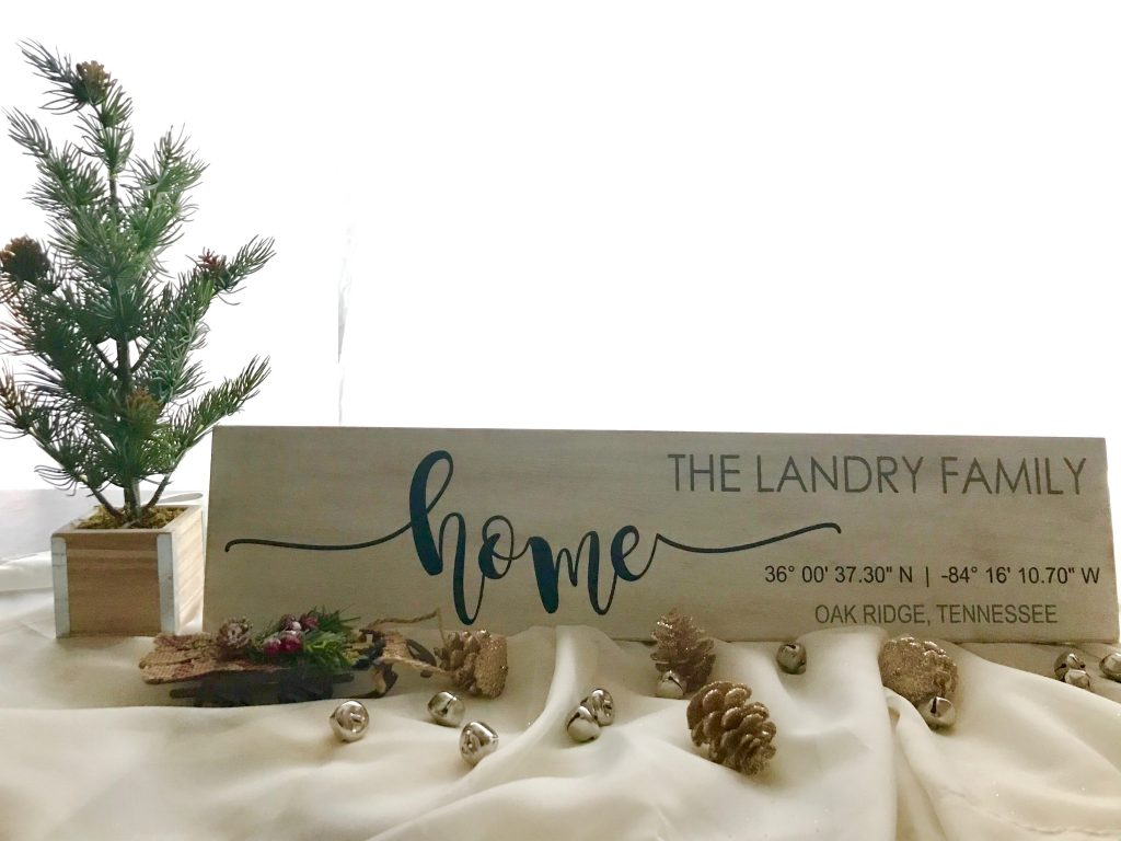 Personalized Signs 'Home' ChasingLex Creations - If you're looking for a meaningful gift that is unique and personal, here are 12 ideas for everyone on your list! Keep reading for can't-fail gifts!