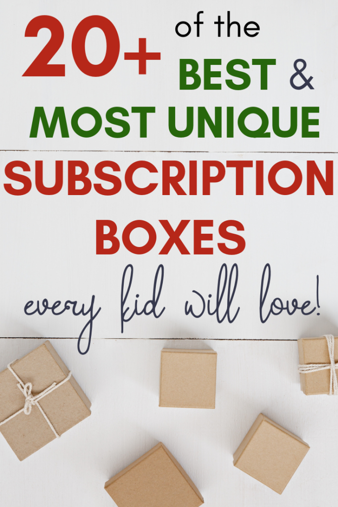 Subscription boxes for kids- If you're looking for a meaningful gift that is unique and personal, here are 12 ideas for everyone on your list! Keep reading for can't-fail gifts!