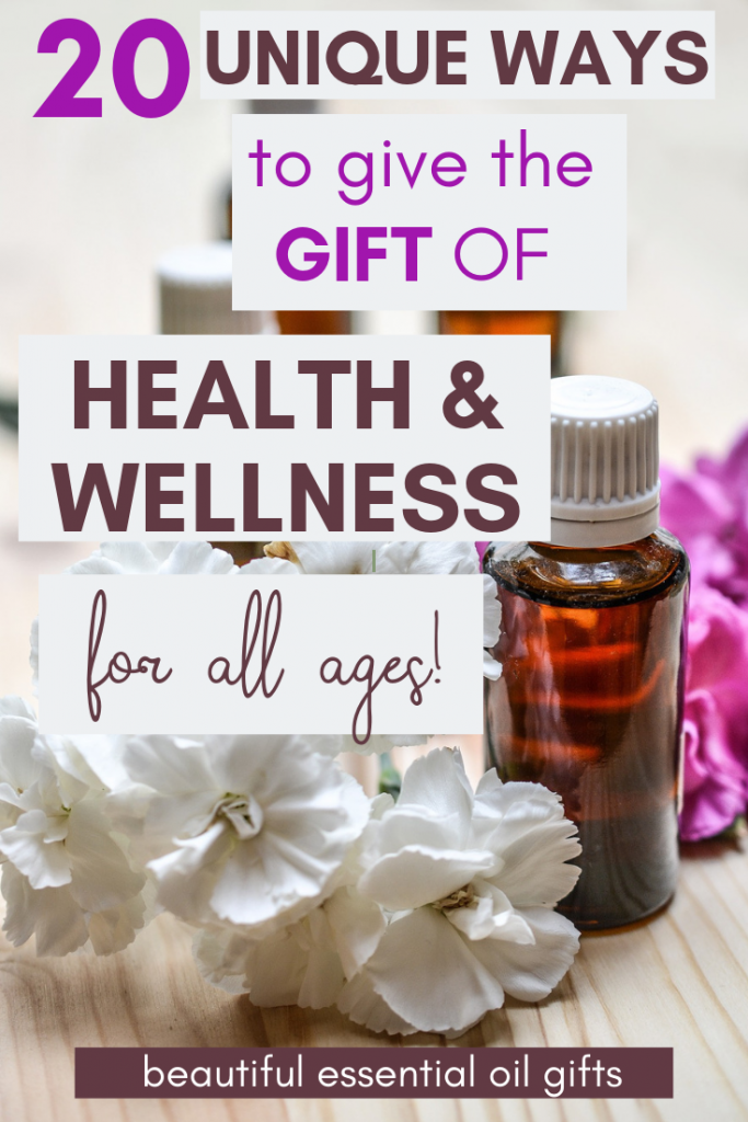 What better gift to give than something that will contribute to health & wellness. Here are 20 beautiful essential oil gifts to give, for all ages!