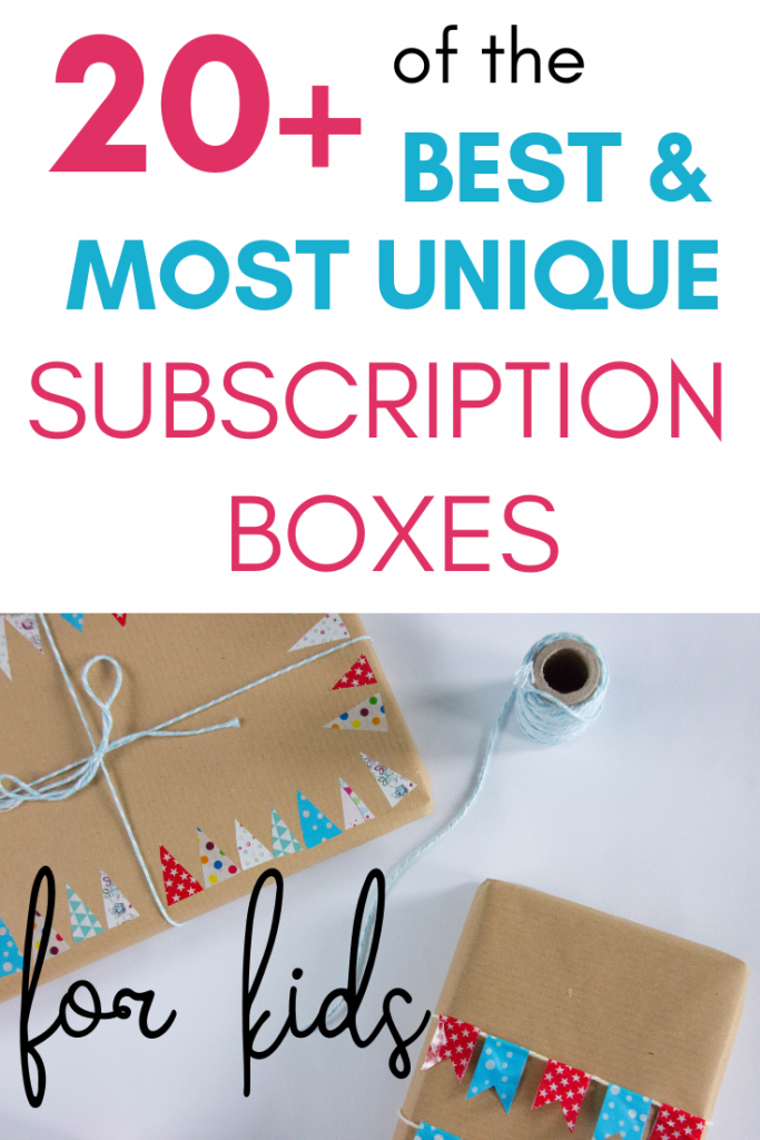 Struggling to find a unique gift for kids? Subscription boxes are the way to go! Here are 20+ of the best and most unique ones available!