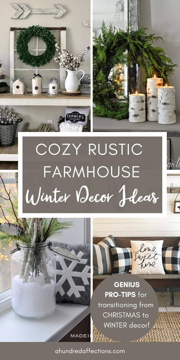 Cozy Rustic Farmhouse Winter Decor Ideas - A Hundred Affections