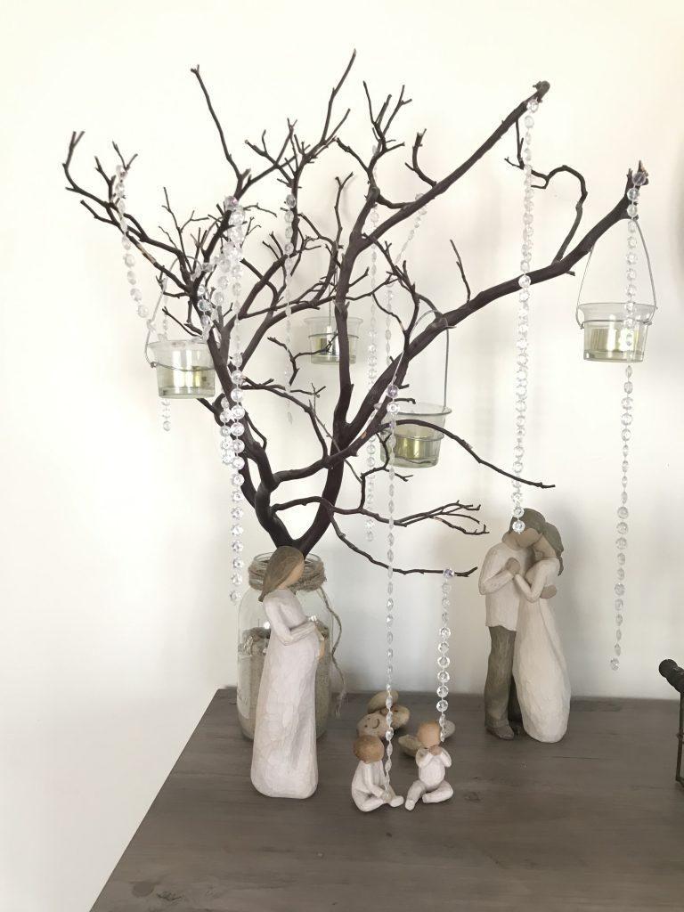 Manzanita Tree with crystals centerpiece Willow People