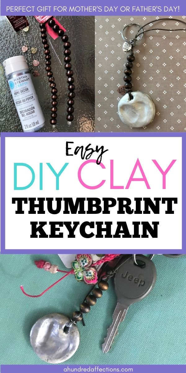 How to Make an Easy DIY Clay Thumbprint Heart Keychain