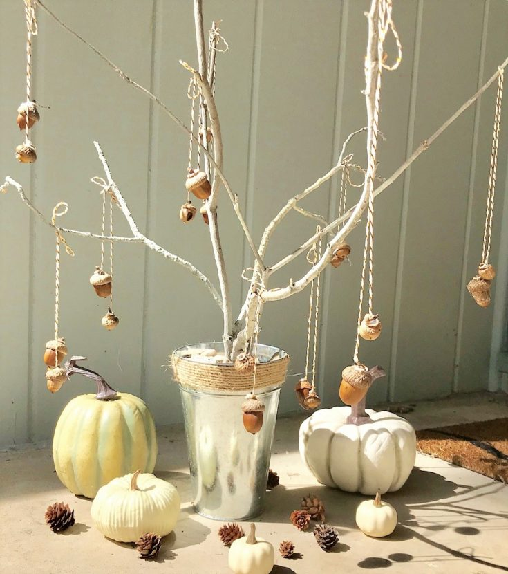 Super Easy and Almost Free DIY Acorn Tree Fall Decor