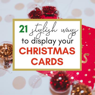 21 DIY Christmas Card Display Holders