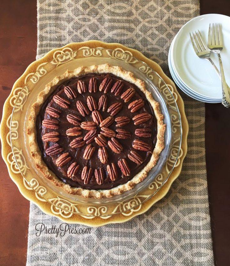 Chocolate Turtle Pie {Vegan, Paleo}