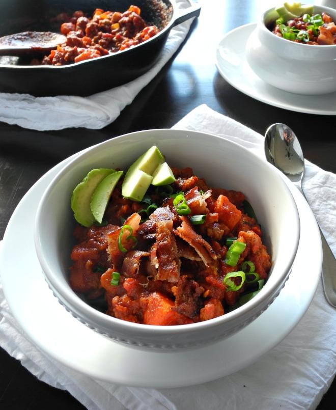 Chorizo Sweet Potato Chili {Paleo & Whole30}