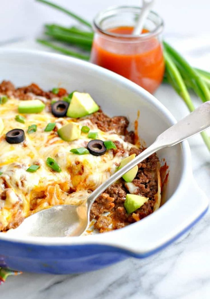 Healthy 4-Ingredient Enchilada Casserole