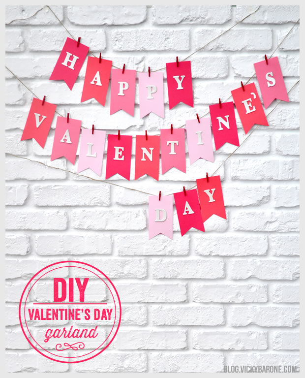 DIY Valentine's Day Garland