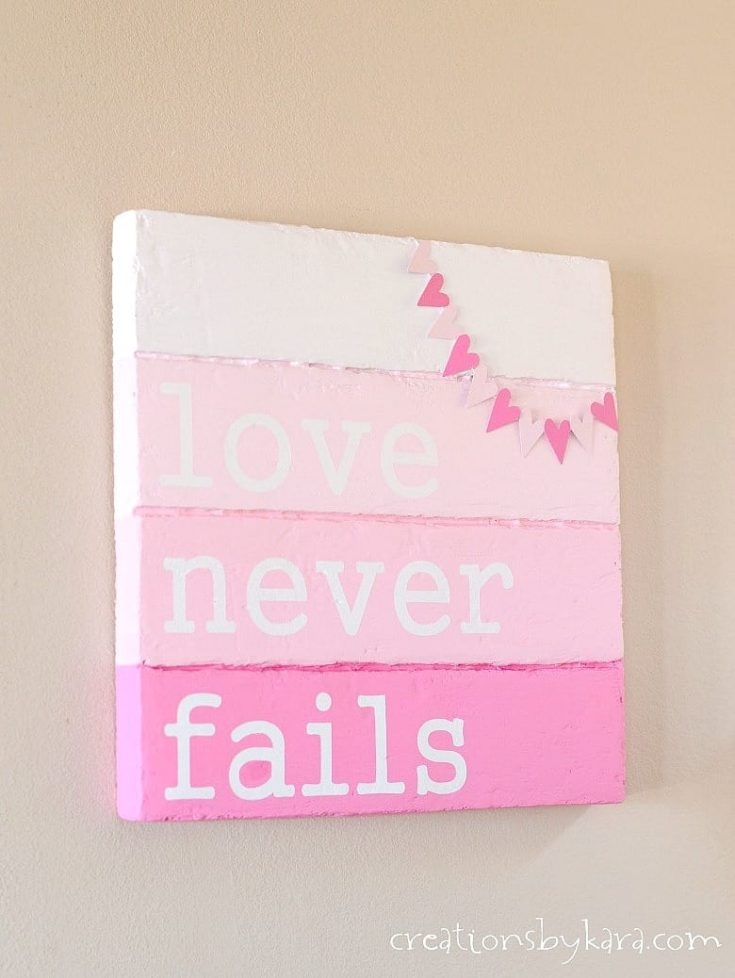 Faux Pallet Valentine's Day Sign