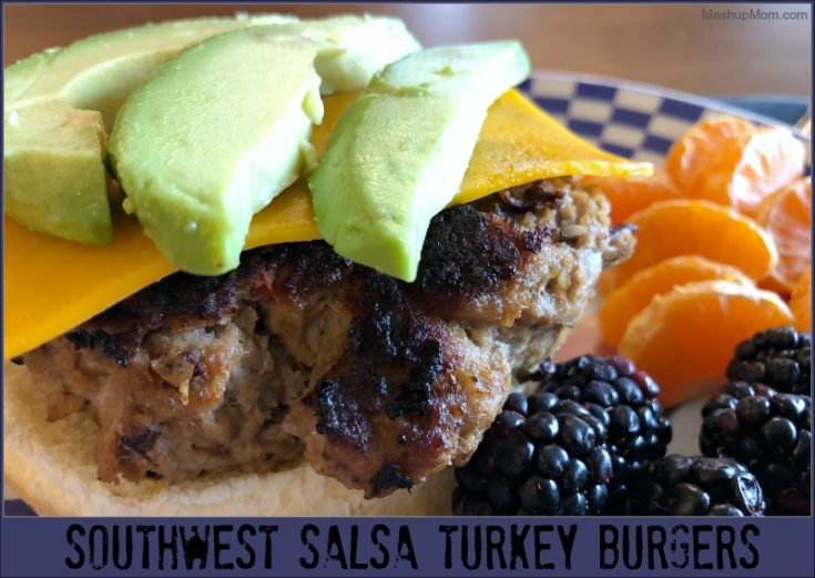 Southwest Salsa Turkey Burgers