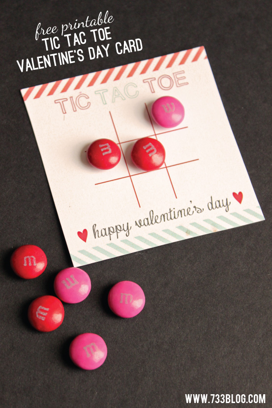 Tic Tac Toe Valentine's Day Card
