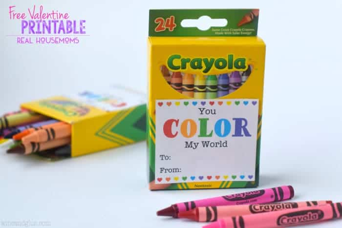 You Color My World Valentine