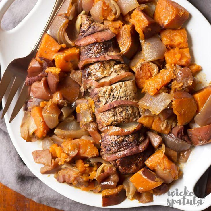 Slow Cooker Crock Pot Pork Tenderloin Recipe With Apples