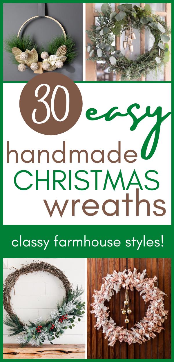 30 Easy Classy Diy Christmas Wreaths Farmhouse Style